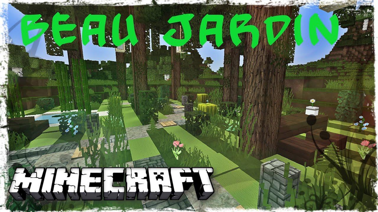 Tuto minecraft comment faire un beau jardin youtube - Comment faire une maison de luxe minecraft ...