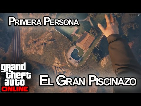 GRAN PISCINAZO EN PRIMERA PERSONA!! GTA V Online PS4 - [LuzuGames]