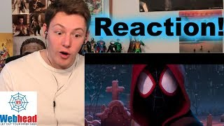 SPIDER-MAN INTO The SPIDER-VERSE Official Trailer #1 REACTION! | Webhead