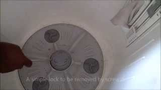 How to repair top loading washing machine at home to stop drain water leakage & remove block