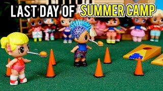 Barbie LOL Doll Last Day of Summer Camp - Baby Goldie \u0026 Punk Boi
