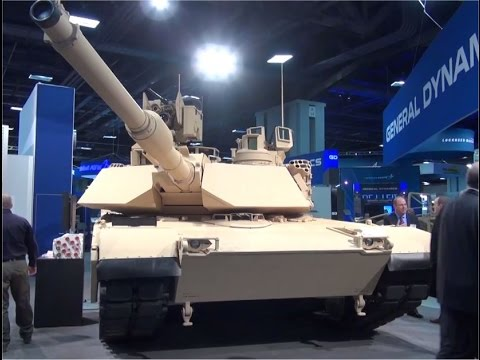 M1A2 Abrams SEP V3 main battle tank General Dynamics AUSA 2015 Army Recognition Web TV Washington DC