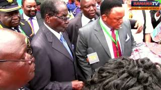 SaharaReporters Crew Encounter With Pres. Robert Mugabe In Nigeria