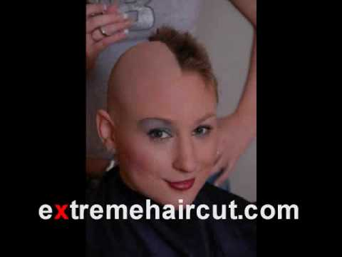 Blonde angel head shave