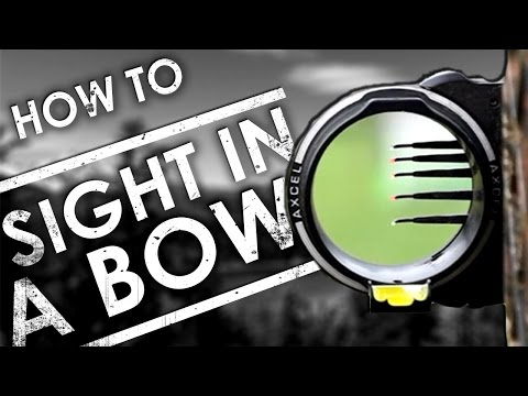 How To Sight In A Compound Bow   The Sticks Outfitter EP. 23
