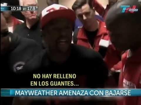 Mayweather no aceptó los guantes de Maidana y amenazó con no pelear