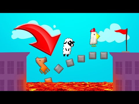 Cross The BRIDGE Before It COLLAPSES! (Ultimate Chicken Horse)