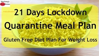 Quarantine Meal Plan/Diet Plan For Weight Loss - Gluten Free Diet Plan - Thyroid PCOS Weight Loss