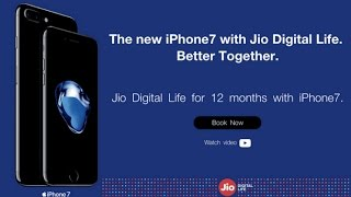 Apple & Reliance jio Partners in India To Offer  free Bundled Data fr 1 Year