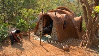 Build most beautiful Mud House Ancient primitive style | Primitive Technology | Building Skill