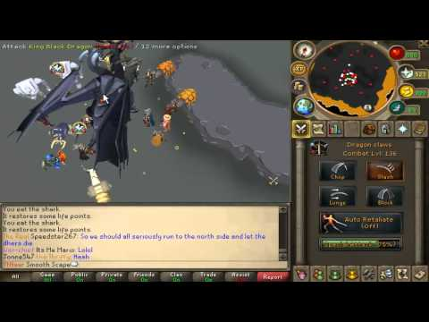 Runescape King Black Dragon First Look - 35 Kills