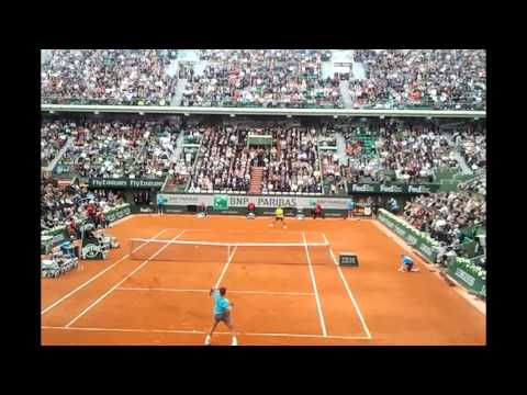 Rafael Nadal vs Dominic Thiem- Roland Garros 2014 2R Close up
