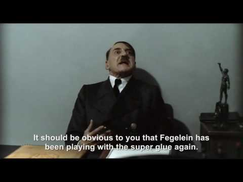Hitler's glued to his chair