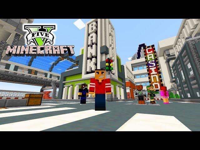Minecraft GTA Online - GTA Cars & Guns On Minecraft! - Exploring GTA Minecraft