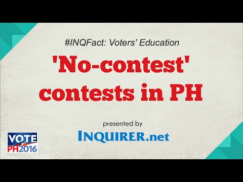 Elections 2016 #INQFact: No-contest Contests