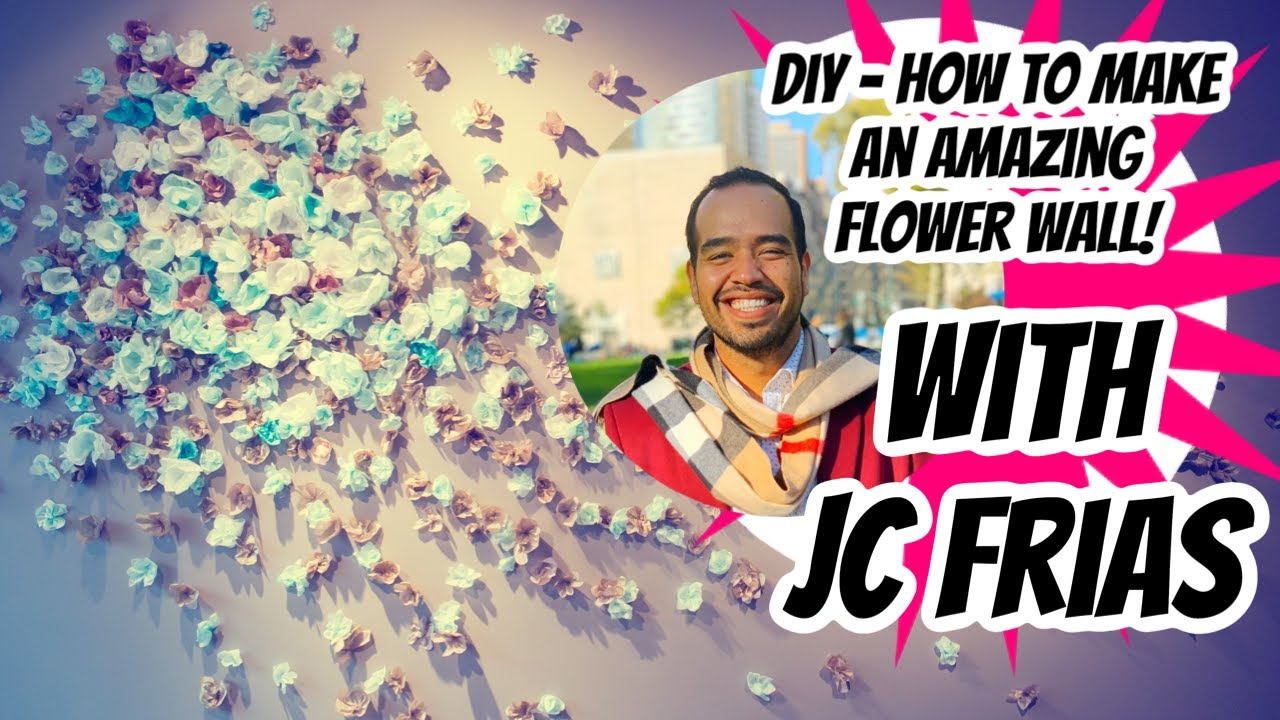 Wall Decoration For Engagement : Diy how to make amazing flower wall backdrop photo booth
