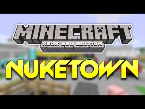 Minecraft (Xbox 360) - NUKETOWN Map Remake + DOWNLOAD! (Custom Maps)