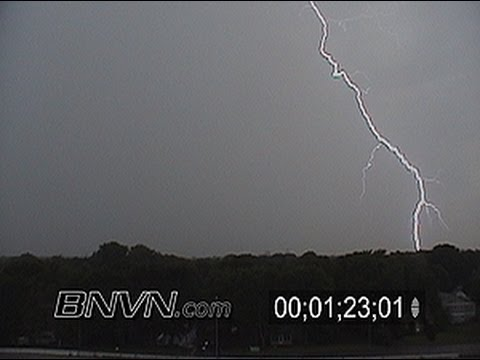 Cloud to ground lightning and cloud to cloud lightning video