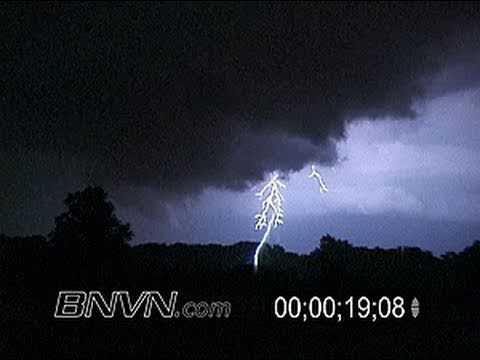 6/24/2003 Night time funnel cloud and lightning near Greenfield, MN