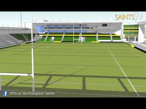 Leon Barwell talks about Franklins Gardens redevelopment - Northampton Saints reveal plans for New N