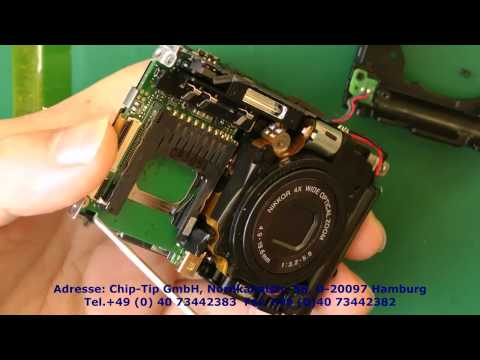 Reparatur Kameras Nikon S3000 -Display Umtausch - camera Replace or Repair- Display change