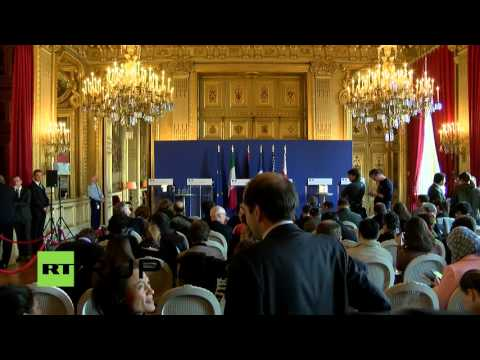 LIVE: US and European diplomats meet in Paris before Syria peace talks: Joint press conference
