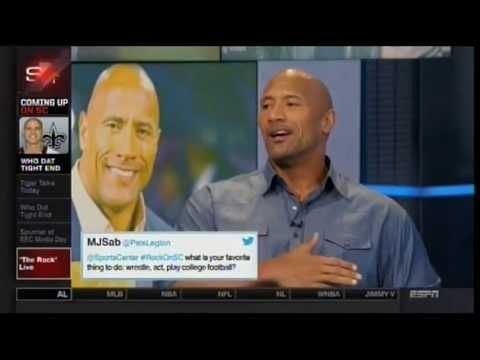 The Rock  talks Muhammad Ali, John Cena, WWE comeback, Lebron, Hercules on Sportscenter 7/15/2014