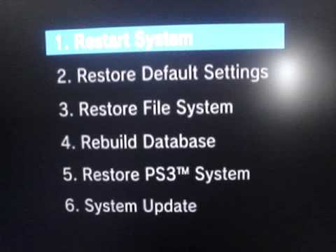 Restore corrupted data ps3
