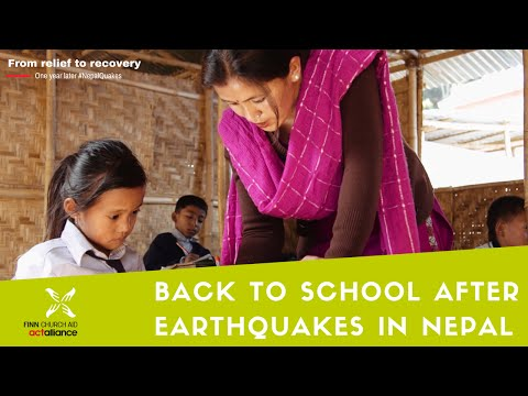 Back to school after earthquakes in Nepal