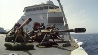 2 Navy Snipers VS 38 Somali Pirates - القراصنة الصوماليين ضد المارين
