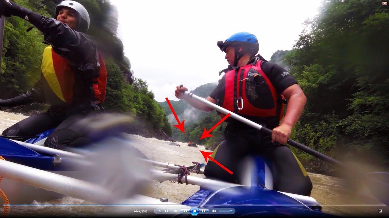 [РВ] Поход по Кавказу. МАССОВЫЙ ОВЕРКИЛЬ в пороге Аманхыт 3-4 КС, река Кубань