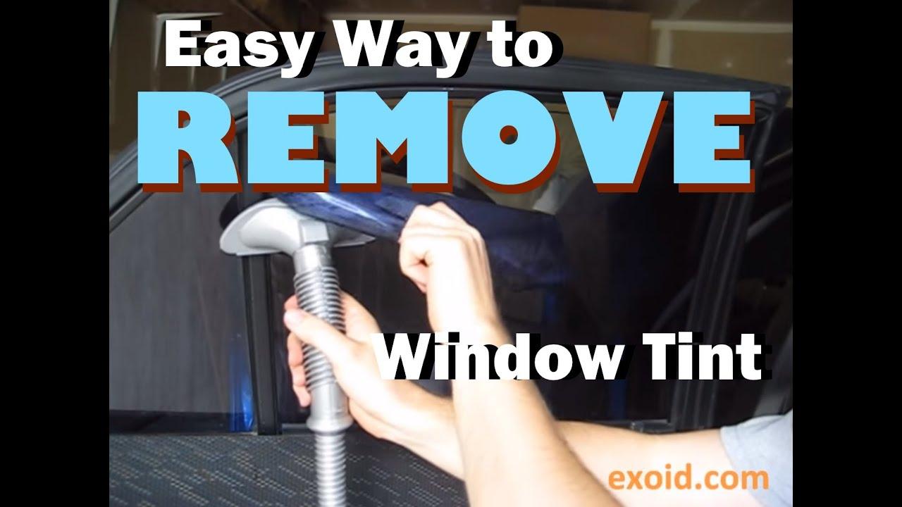 Easy Way To Remove Automotive Window Tint Youtube