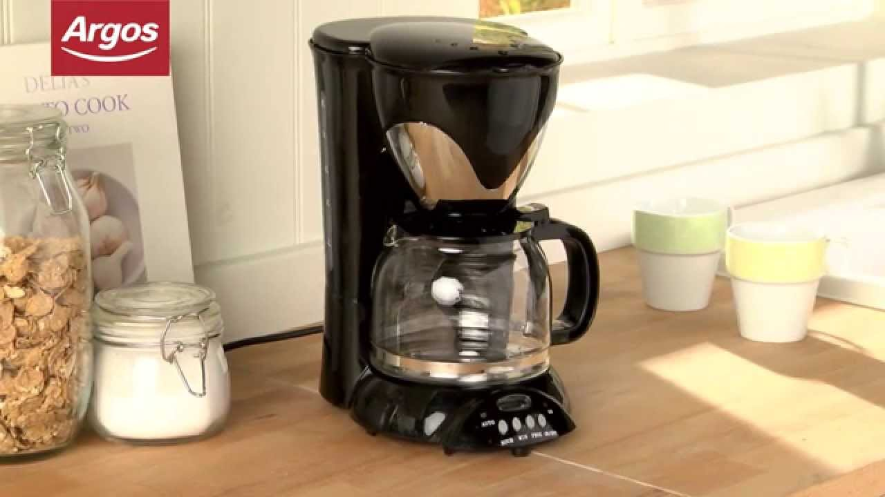 Argos Coffee Maker With Timer : Cookworks XQ668T Filter Coffee Maker in Black Argos Review - YouTube