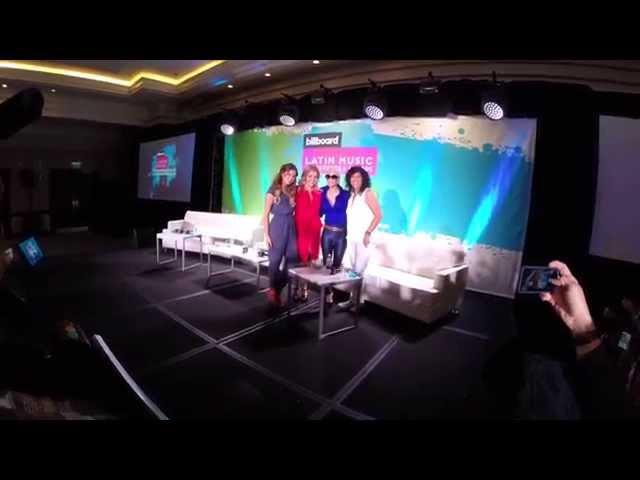 SOFIA REYES, ROSANA, IVY QUEEN en la Conferencia Billboard de Musica Latina 2015