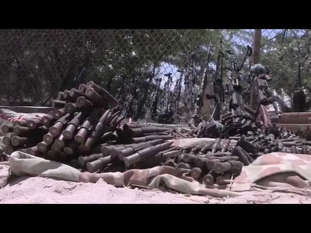 Somali Security Forces and AMISOM recover arms from powerful Warlord