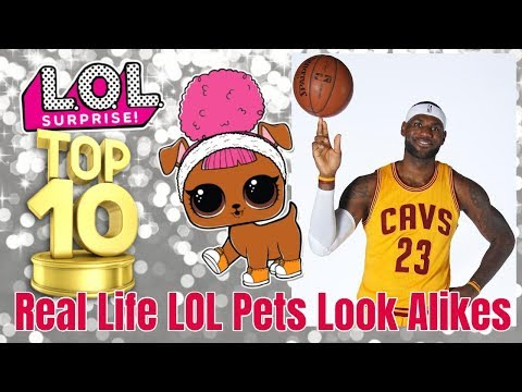 Top 10 LOL Surprise Pets Real Life Celebrity Look Alikes