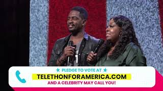 Telethon For America // Bill Bellamy and Loni Love