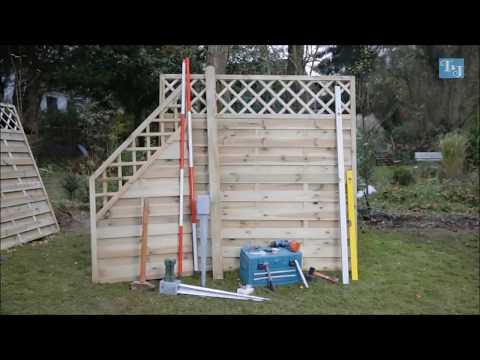 Tetzner und Jentzsch Sichtschutzzaun aus Holz Montageanleitung
