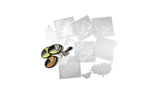 Crafter's Companion Stencils and Ink Pads   Anemone   Li...