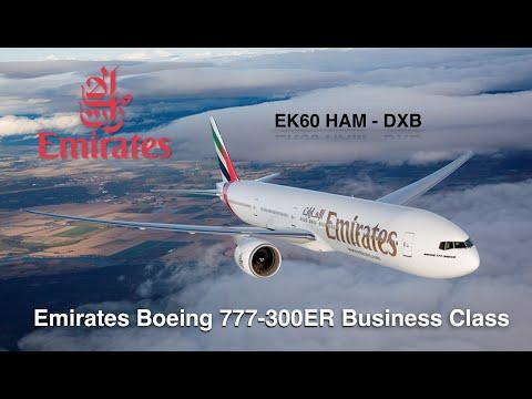 Emirates Boeing 777-300ER Business Class HAM-DXB