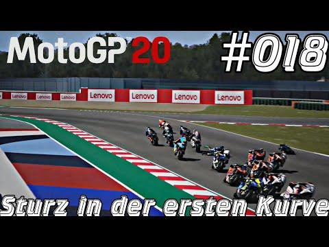 #018 MotoGP™20 Let's Play Xbox One X - Schwer Sturz in Kurve eins