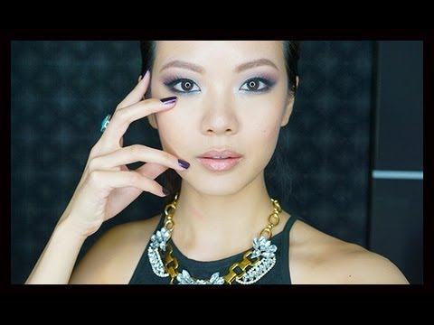 Easy Purple Smoky Makeup Tutorial For Asians (Monolids, Hooded Eyelids) with Dio