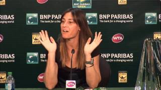 BNP Paribas Open Championship Press Conference: Flavia Pennetta