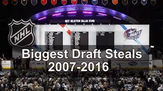 Biggest NHL Draft Steals From 2007-2016