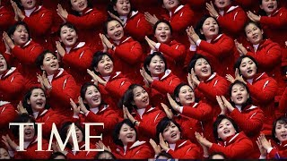 What To Know About North Korea's Olympic Cheerleaders: The 'Army Of Beauties'  TIME