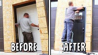 UPGRADING OUR CASTLE! (Custom Man Door Installation)