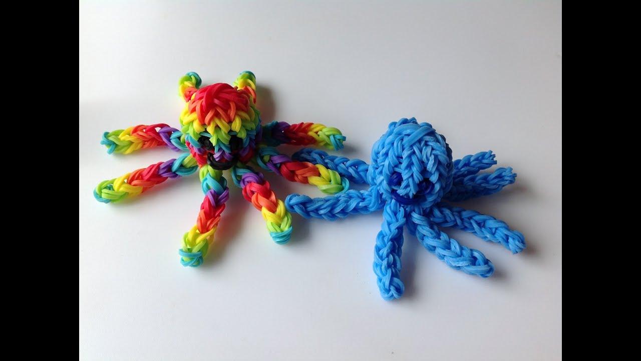 Плетение резинками осьминога