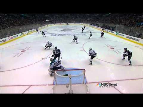 Drew Doughty slapshot goal 2-0 May 16 2013 San Joses Sharks vs LA Kings NHL Hockey