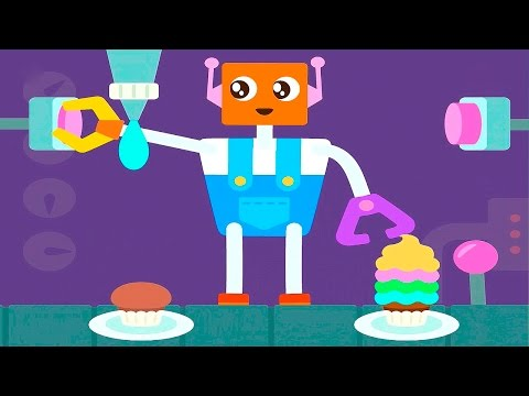 САГО МИНИ Весёлый Робот - Мультики для самых маленьких детей  #SagoMini Robot Party