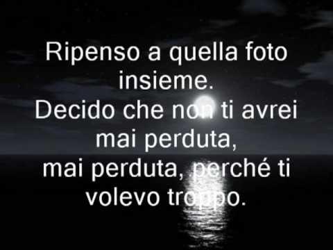 Indietro- Tiziano Ferro Lyric